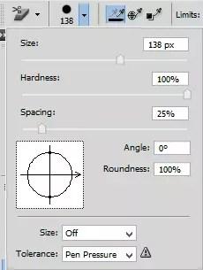 Brush adjustment panel