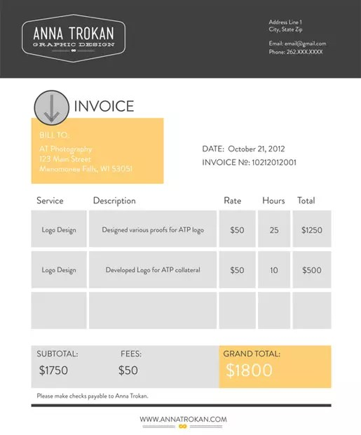 Invoice Template Cute neverageinfo – Best Invoice Template