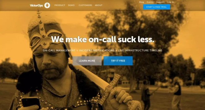 VictorOps Home Page