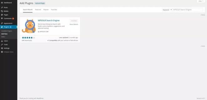 WPSOLR Search Engine Plugin