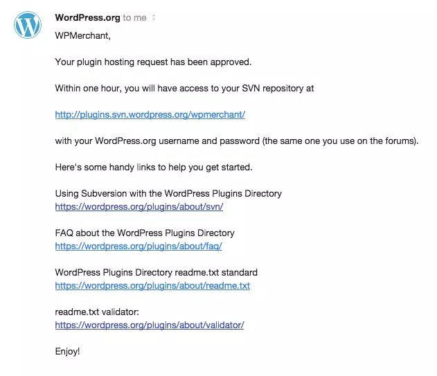 WordPress approval email