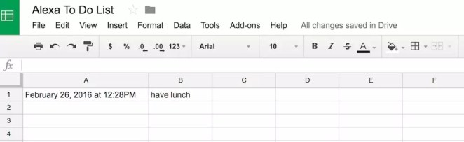 Our spreadsheet in action