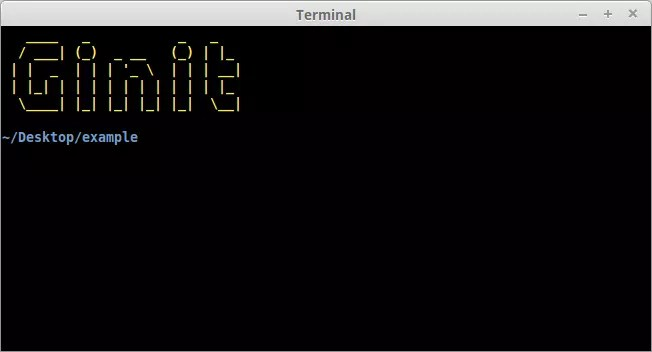 The welcome banner on our Node CLI, created using Chalk and Figlet