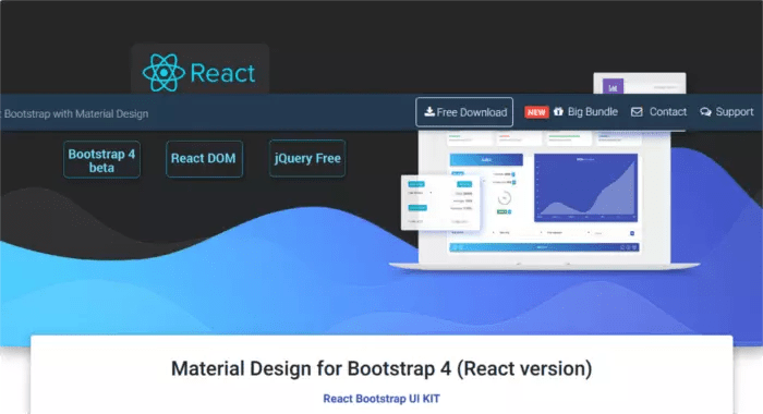 Material Design for Bootstrap React Version