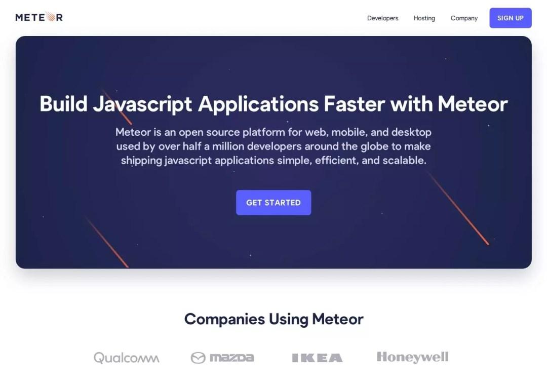 Meteor - Commencer de nouveaux projets plus rapidement