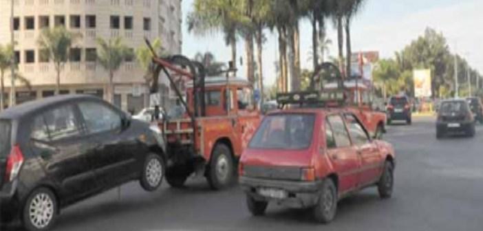 """الدارالبيضاء:عربات الجر Dépannage تزعج أصحاب السيارات  و""""دابا بريس""""تستطلع أراء البيضاويين"""