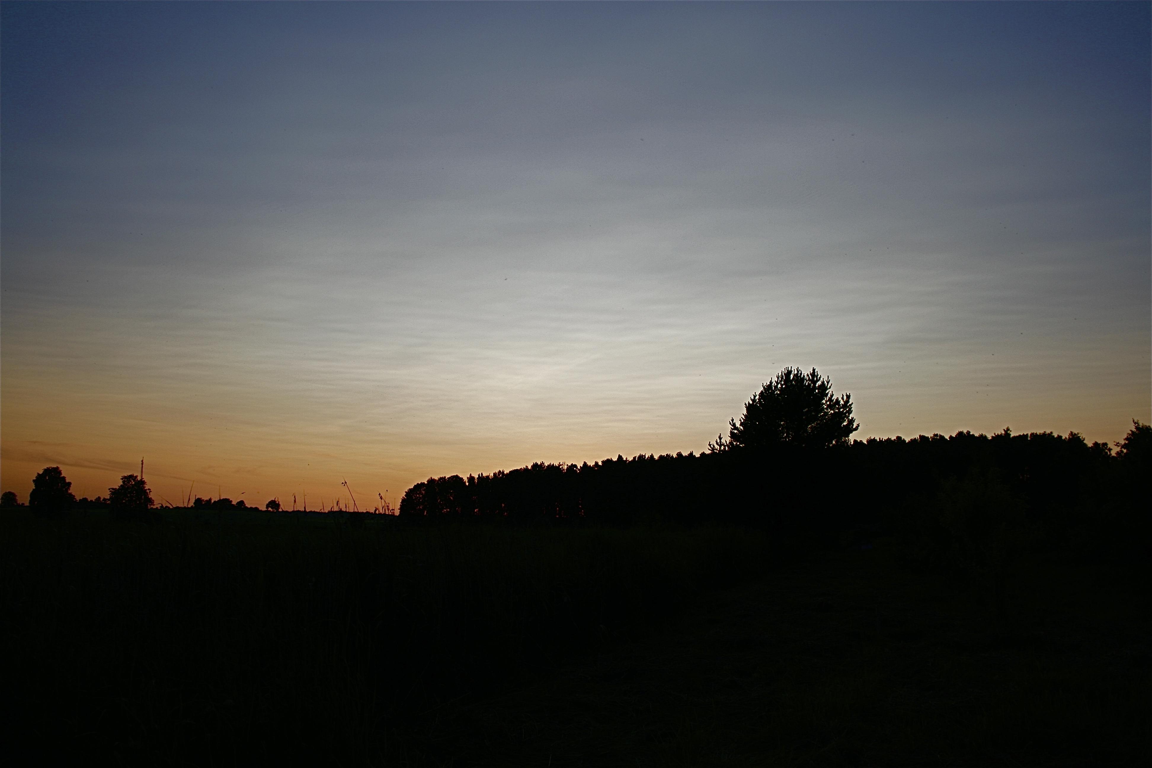 Vulkānisko pelnu saulriets Aucē 2.jūlijā(bilde apstrādāta)