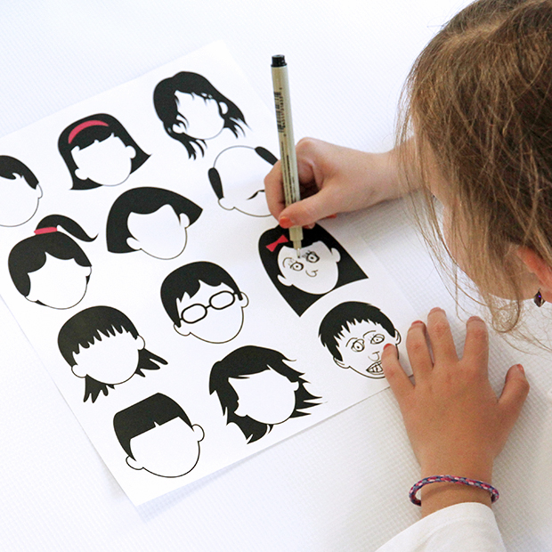 blank faces drawing page free printable dabbles amp babbles