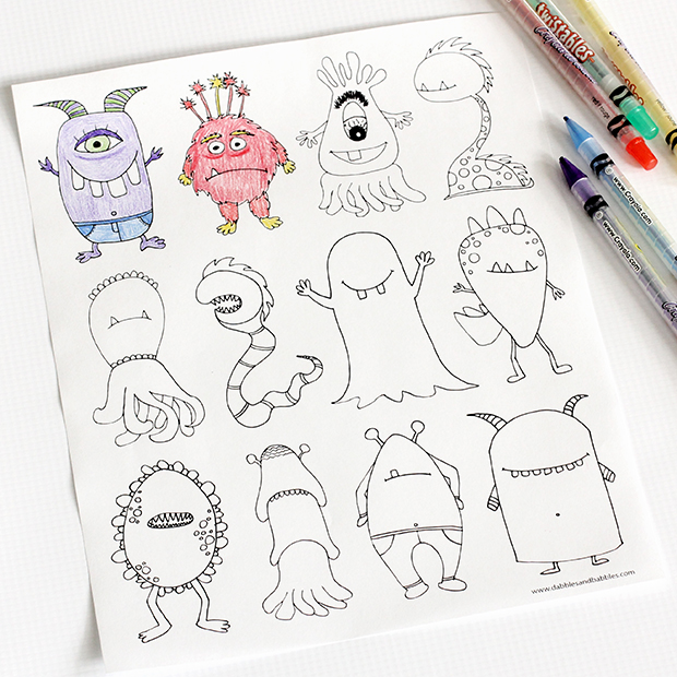 cute monsters coloring pages monsters coloring page