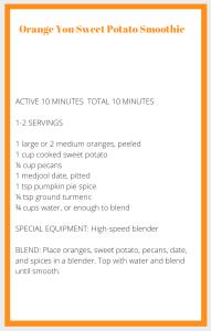 Orange Smoothie Recipe Card