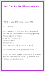 Purple Smoothie Recipe Card