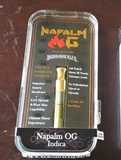brass knuckles napalm og cannabis vape cartridge