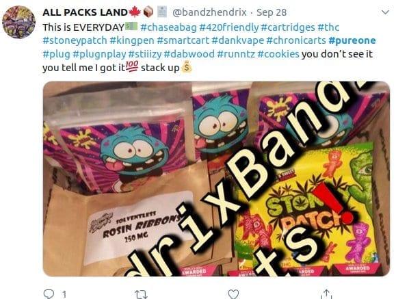 illegal cartridge distribution on Twitter