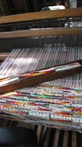 Weaving away for the 2014 Santa Fe Renaissance Fair.