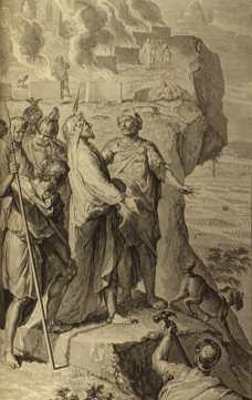 Balaam blessing the Israelites