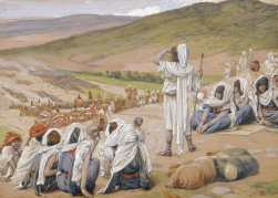 """Jacob Sees Esau Coming to Meet Him,"" by James Tissot"