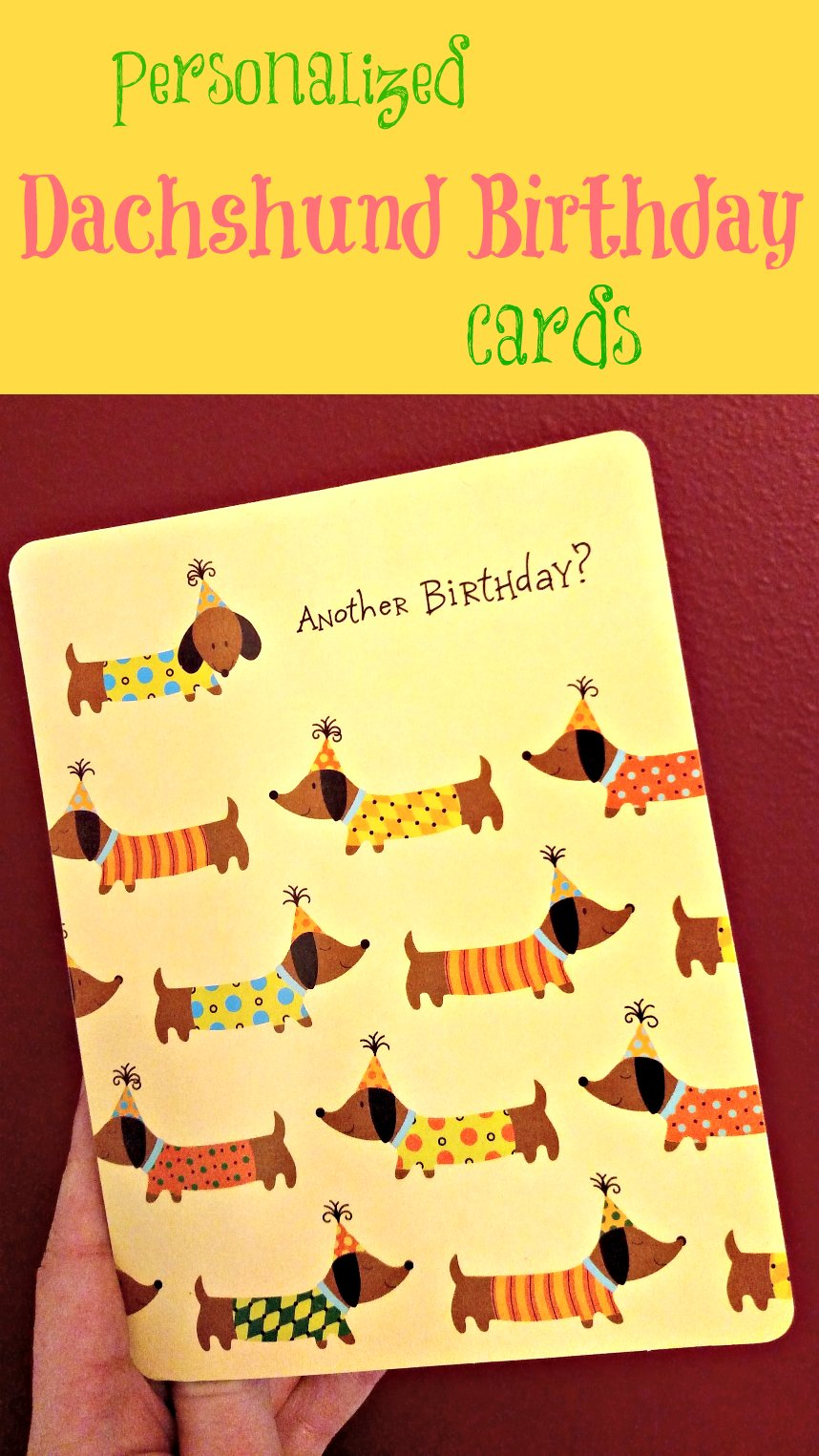Personalized Dachshunds Birthday Cards Dachshund Gifts For Dog Lovers
