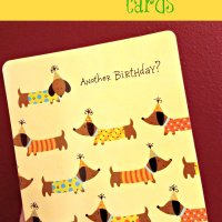 Personalized Dachshunds Birthday Cards