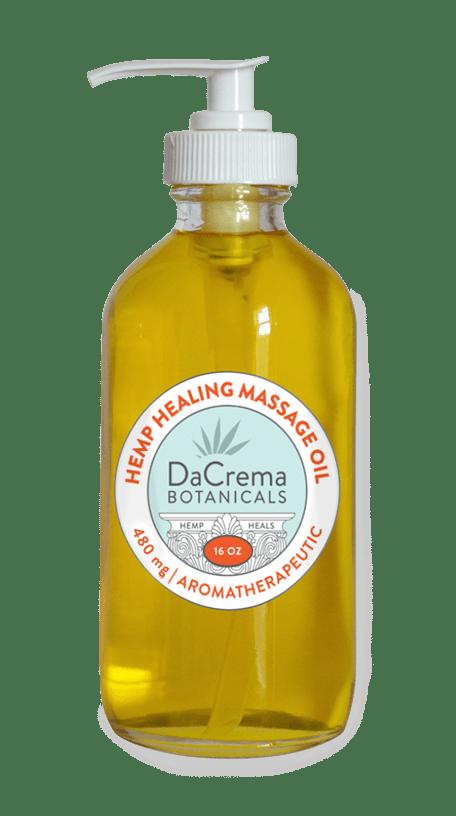 Dacrema Botanicals CBD Massage Oil 16oz Bottle