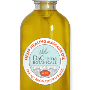 Dacrema Botanicals CBD Massage Oil 16oz Bottle