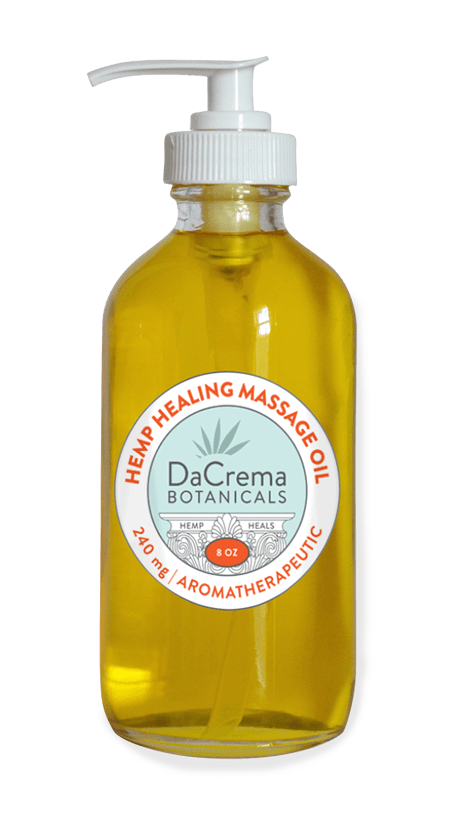 Dacrema Botanicals 80z hemp healing massage oil