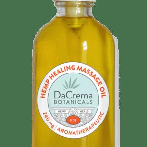 Dacrema Botanicals 80z hemp healing massage oil