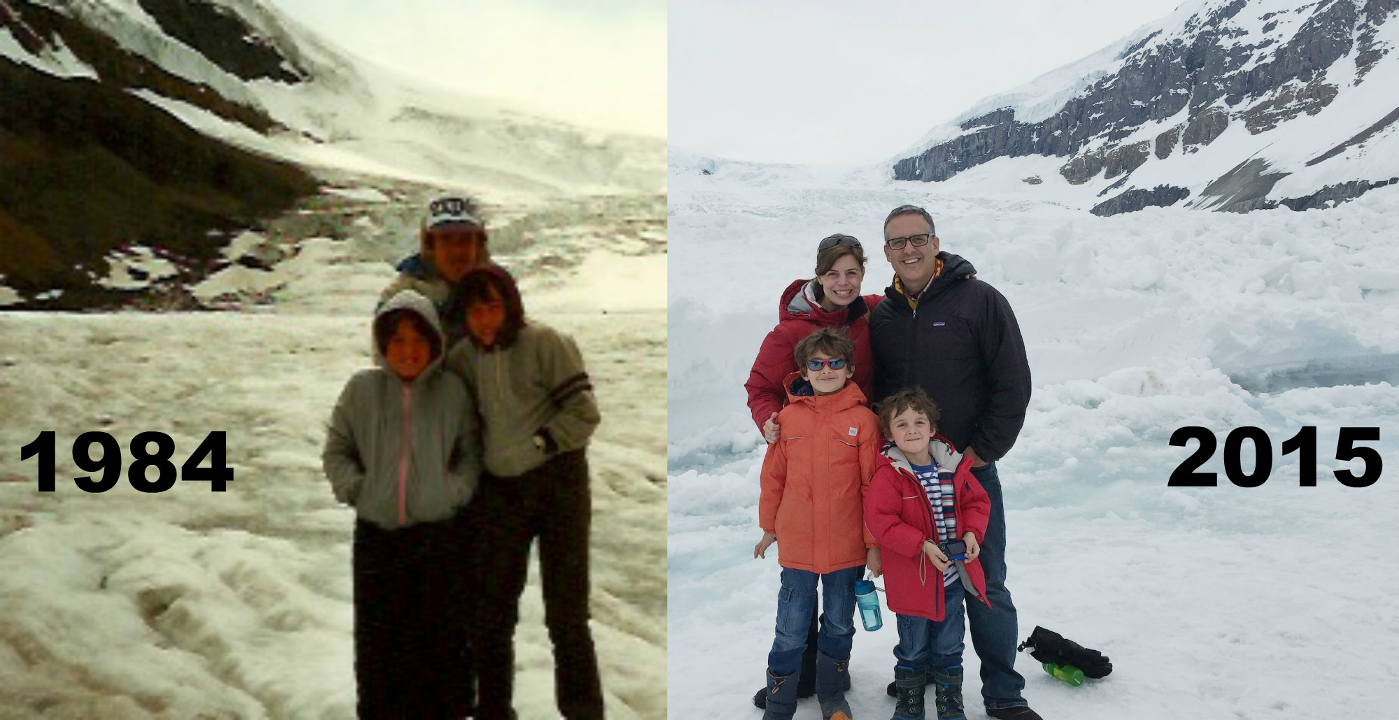 TBT The Athabasca Glacier In 1984 And Again In 2015