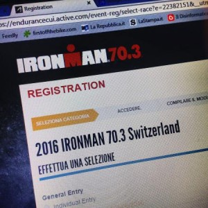 L'iscrizione al Ironman 70.3 Switzerland