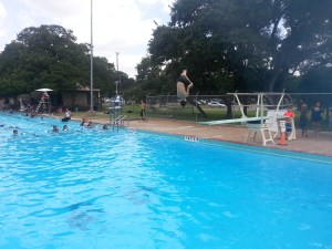 A flip at Garrison Pool