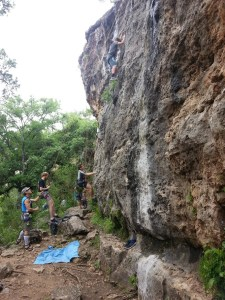 Rock climbing at Reimer's Ranch