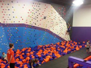 Foam Pit Rock Climbing Wall