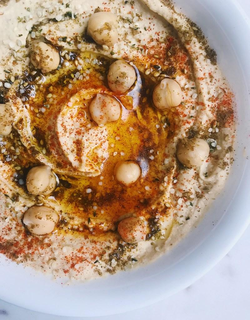 Vegan Homemade Hemp Seed Hummus