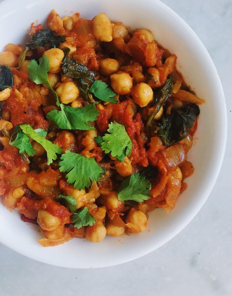 Healthy Chana Masala (Vegan, Gluten-Free, Dairy-Free)