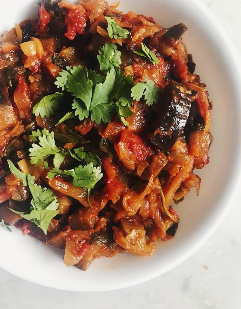 Spiced Eggplant Masala (Healthy Baingan Bharta)