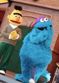 cookie monster, sesame place, labor day, amusement park, parenting, dads, ernie