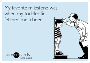 toddler beer 300x210 5 Signs Youve Become a Parent