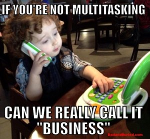 parenting, business, multitasking, baby on cell, business baby, kids, parents, dads, moms, toddler, professional, work, lifestyle, terrible twos, discipline, behavior