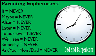 parenting, parenthood, euphemisms, discipline, toddler, dads, dad bloggers, dad blog, dad and buried, funny, humor, e-cards, wordless wednesday, family, lifestyle, kids, home, life