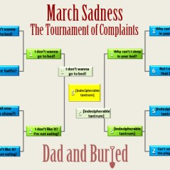 parenting, march madness, basketball, NCAA, tournament, dads, moms, motherhood, fatherhood, parenthood, dad and buried, funny, dad bloggers, humor, sports, lists, kids, sweet sixteen, tournament, dad and buried, family, children
