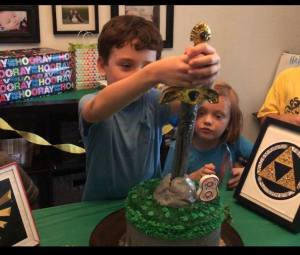 birthday, birthday party, zelda, nintendo, pinterest, mom and buried, parenting, funny, humor, party planning, dad and buried, mike julianelle, dad blogger, mommy blogger, kids are the worst