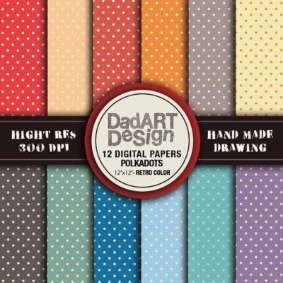 12 Retro Polka dots Patterns