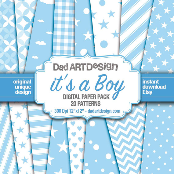 It' a Boy - Baby Shower patterns
