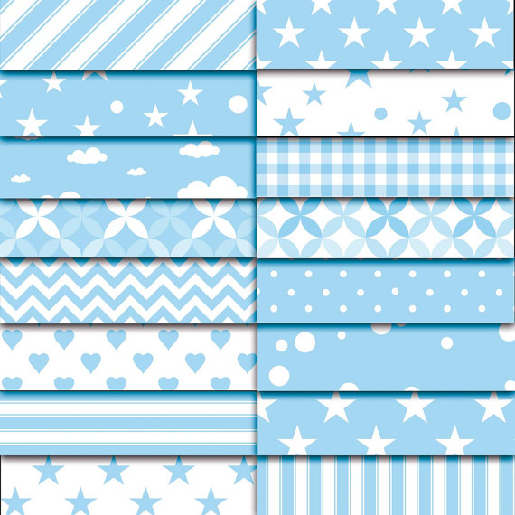 It's a boy - baby shower patterns 01