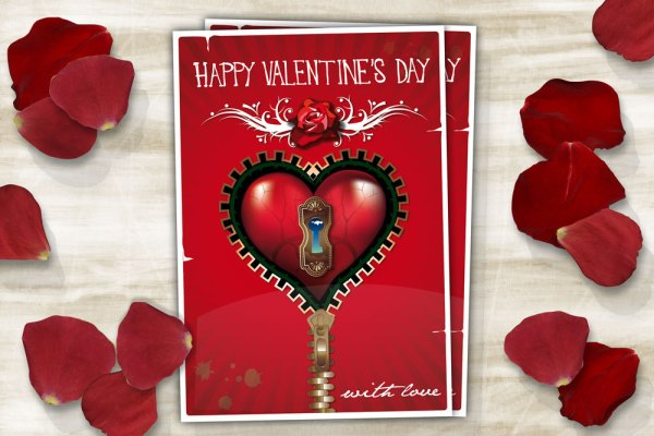 Red Steampunk Valentine's day Card