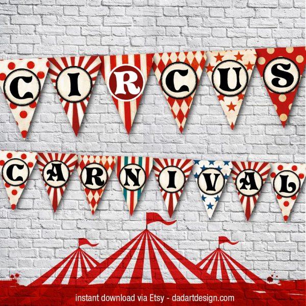 Circus flag banner