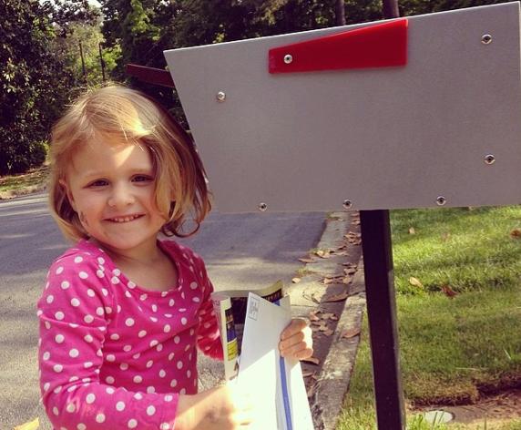 at mailbox