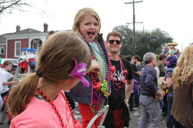 M, L, and moe at parade