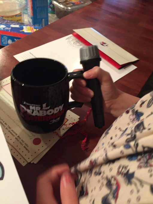 coffee cup and mic