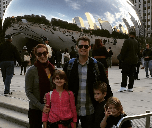 in front of bean