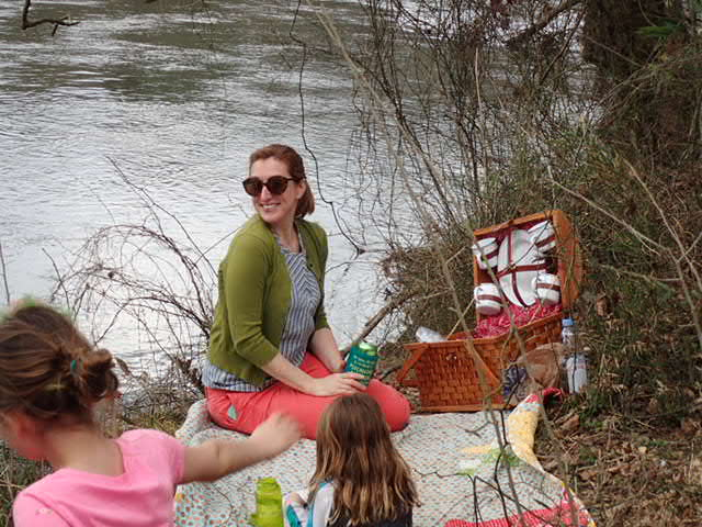 picnic by river